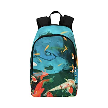 59644492825 Colorful Koi Fish Or Carp Fish Swimming in The Pon Casual Daypack Travel  Bag College School Backpack for Mens and Women  Amazon.ca  Sports   Outdoors