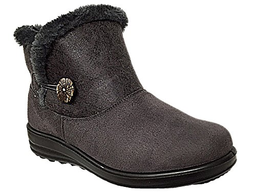 Foster Footwear - Botas Chelsea adultos unisex mujer chica Grey/Button