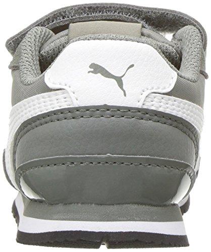 PUMA Baby ST Runner NL Velcro Kids Sneaker, Rock Ridge White, 7 M US Toddler by PUMA (Image #2)