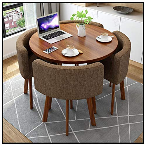 Modern Furniture Combination Office Table and Chair Sets Cotton and Linen Sofa Seat Small Round Table Metal Bracket Coffee Kitchen Home Living Room Fast-Food Shop Hotel Leisure Chair Shopping Hall