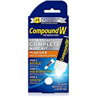 Compound W Complete Wart Kit | Freeze Off Plantar Wart Removal | 15 Treatments (Packaging May Vary)