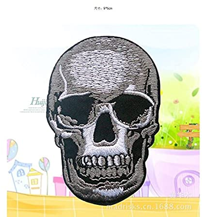 6048d72ce8aac Iron On Patch Embroidered 5pcs Skulls Skeleton Psychedelic ...