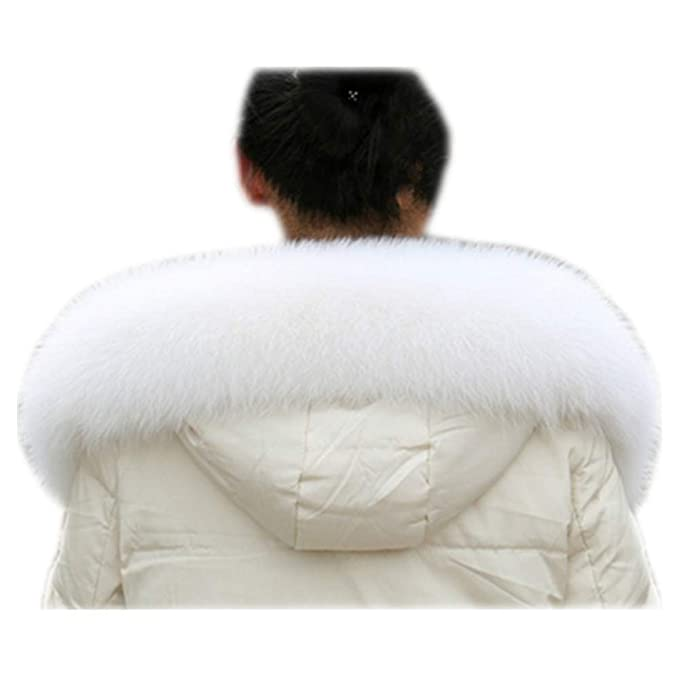 Amazon.com: MH Bailment – Collar de piel de zorro para mujer ...