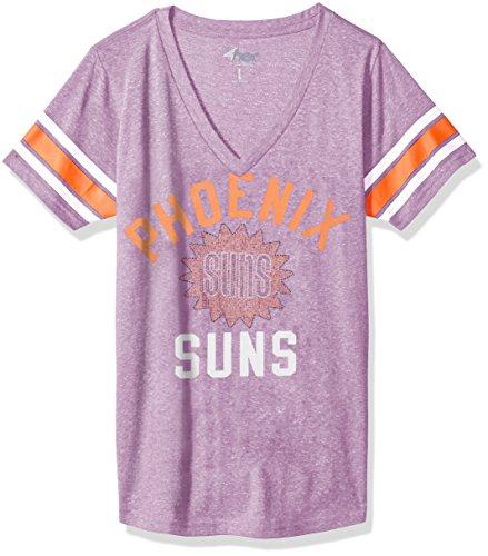 Phoenix Suns Crystal (GIII For Her NBA Phoenix Suns Women's The Big Game Tee, Large, Purple)