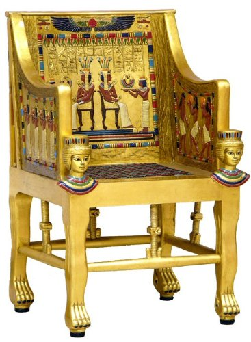 Unicorn Studios WU70567VB Throne Of Princess Sitamun Egyptian Chair