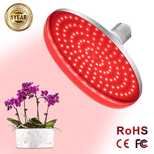 Deep Red LED Light Bulb 660nm 60W LED Plant Light for Indoor Plants Flowering Bloom and Fruiting Grow Light Bulb Relassy