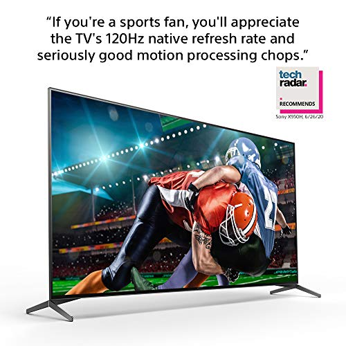 Sony X950H 65 Inch TV: 4K Ultra HD Smart LED TV with HDR and Alexa Compatibility - 2020 Model (XBR65X950H)