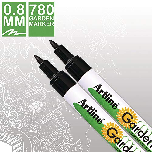 Artline Garden Markers, 0.8 mm Writing Width, Black, 12 Pack (EK-780) by Artline (Image #3)