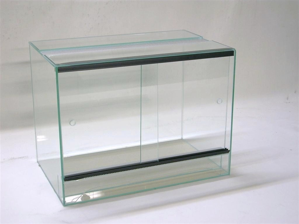 Terrarium 40x30x35 cm mit Schiebetür, Glasterrarium, Spinnen, Gekkos, Insekten, Amphibien, Skorpion FP