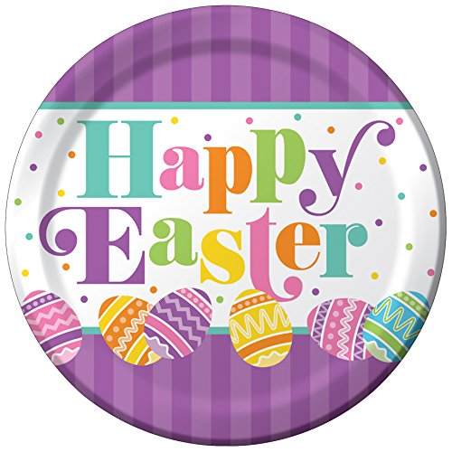 Creative Converting 8 Count Paper Dinner Plates, Easter