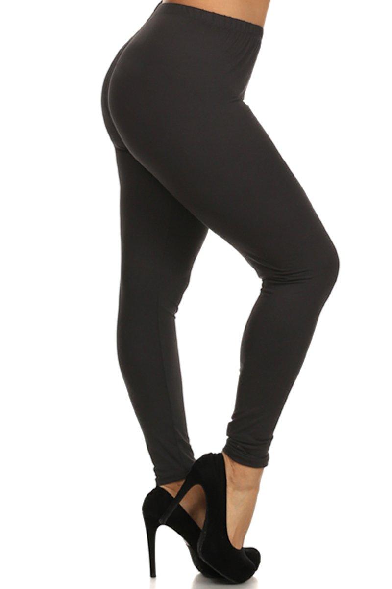 Solid Leggings (BLACK-SXL128)