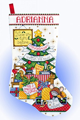 Design Works Counted Cross Stitch Kit Sleepy Mouse Stocking by Design Works