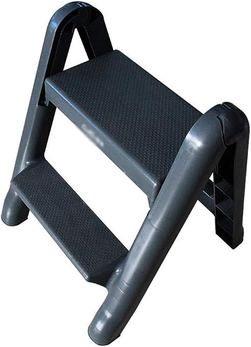 HOMRanger Escalera de pie portátil Escalera de Dos escalones Escalera Plegable de plástico Grueso Escalera para el hogar: Amazon.es: Hogar