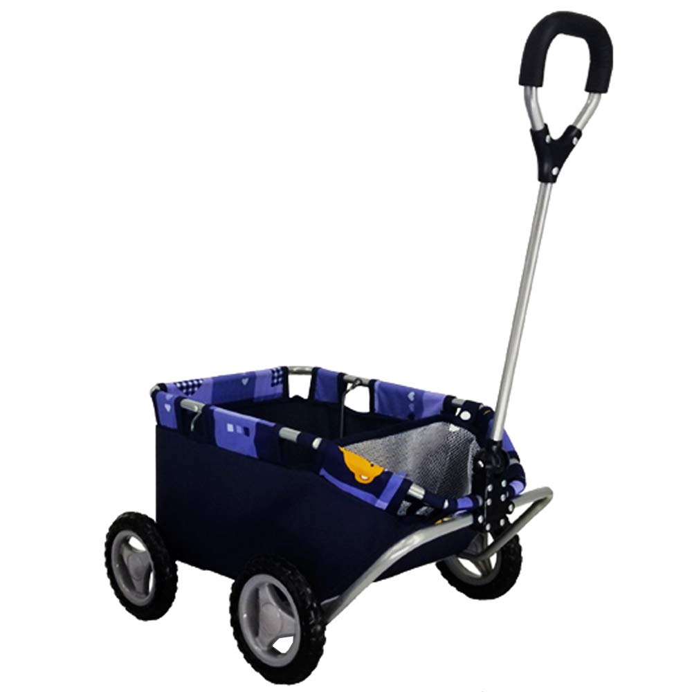 CUBY Kid Toy Play Wagon Baby Pull Along Cart Blue