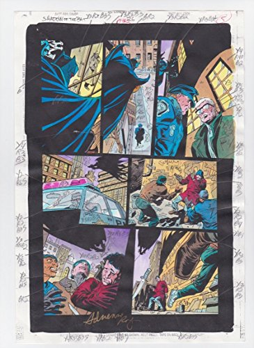 SHADOW OF THE BAT #26 PAGE 4 ORIGINAL COMIC PRODUCTION ART CLAYFACE SIGNED w/COA