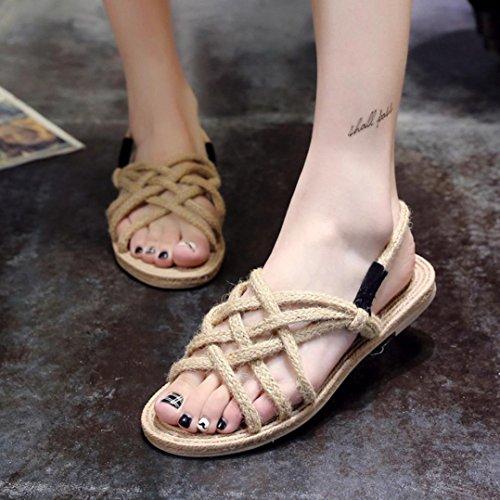 e725cb22dcbbd9 Sandales Digood Pour Les Femmes, Les Filles Des Adolescentes Dété Loisirs  Weave Chaussures Pantoufles Plates ...