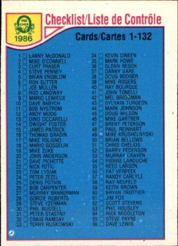 1985 Topps Hockey Card - 1