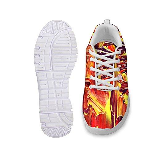 Abrazos Idea Pintura Diseño Mujeres Moda Casual Zapatillas Ligeras Zapatillas Coloridas 3