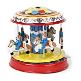 Colorful Carousel Model Tin Toy Collectible Gift