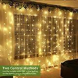 LE Fairy Curtain Lights Battery or USB Plug in, 9.8