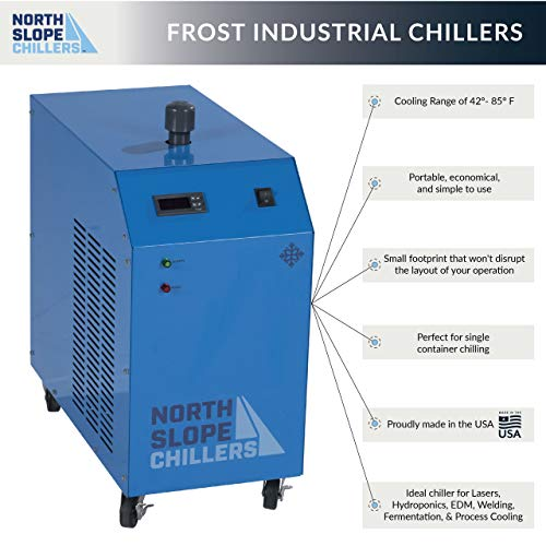 North Slope Chillers - NSC0250-FROST 1/4 Ton/HP Light-Duty Portable Industrial Glycol Chiller, 1.5 Gallon Reservoir Capacity, 3.5 GPM Max from North Slope Chillers