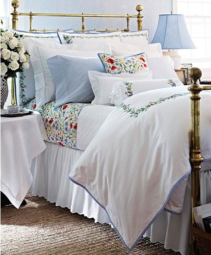 Ralph Lauren Georgica Garden Lattice Standard Sham White