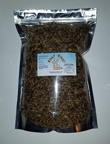 Wormyworms 1 LB Dried Crickets for reptiles, amphibians, fish, birds, chickens & small mammals