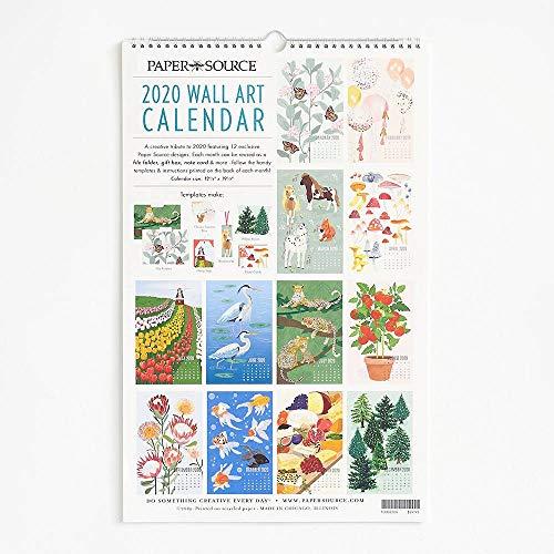 2020 Wall Art Calendar (Paper Source Wall Calendar)