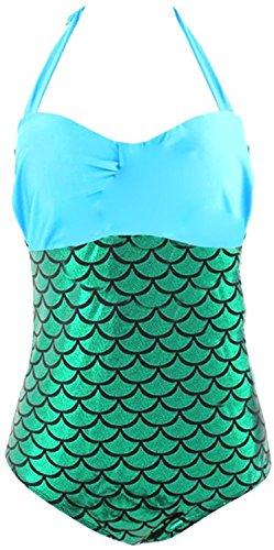 David Salc Women's Halter Splice Mermaid Plus Size