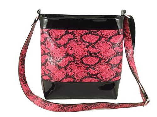 Rosa LONI Beige Cerise Pink Pink para Medium Groovy Snakeskin Bolso al Mujer Tan Rainbow Fuschia Hombro ppgwRx8q