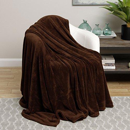 Ultra Soft Chocolate Brown Design King Size Microplush Blanket