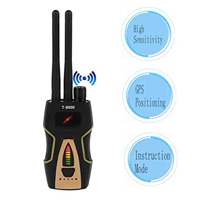 fosa Anti Spy Camera Detector, T-8000 RF Signal Bug Detector GPS Scan Detector, Mini Camera Lens Tracker Ultra-high Sensitivity Signal Device Finder (Yellow+Black): Home Audio & Theater