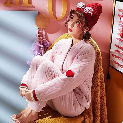 Suaves Caseros E Cálidos Servicios L Franela Coral Lindos Pijamas Casuales Gruesos M Invierno Y Baijuxing Deportes Otoño Fleece OEXIxw