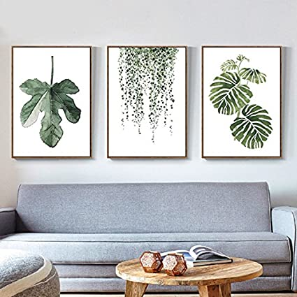 Amazon Com Green Plant Series Canvas Print Wall Art Poster