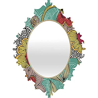 Deny Designs Valentina Ramos Beatriz Baroque Mirror - Baltic birch ply fame and high gloss aluminum printed front with UV resistant coating Quality glass mirror Mounting hardware included - bathroom-mirrors, bathroom-accessories, bathroom - 51UopsaOzEL. SS400  -