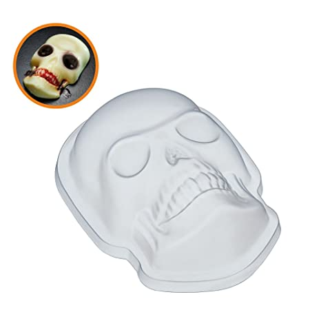 KitchenCraft SPKYJELSKULL Spookily Do It - Molde de plástico para gelatina de Halloween, 680 ml