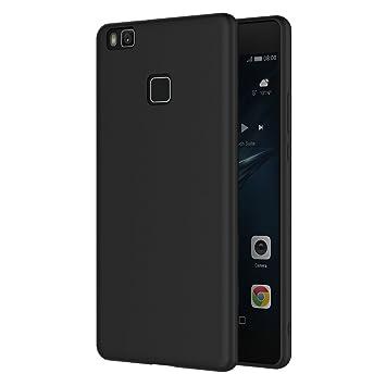 AICEK Funda Huawei P9 Lite, Negro Silicona Fundas para Huawei P9 Lite Carcasa (5,2 Pulgadas) Negro Silicona Funda Case