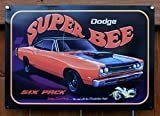Dodge Super Bee Six Pack Car Tin Sign 12 x 17in