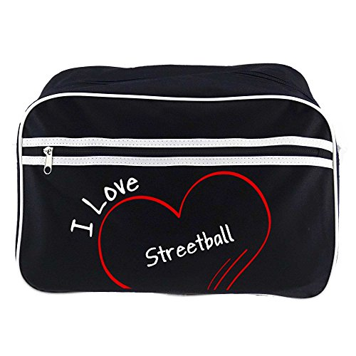 Retrotasche Modern I Love Streetball schwarz