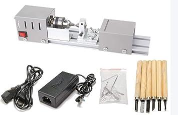 DIY Drehbank Schleifer und Metall Poliermaschine Mini-Drehmei/ßelmaschine f/ür Holzbearbeitung