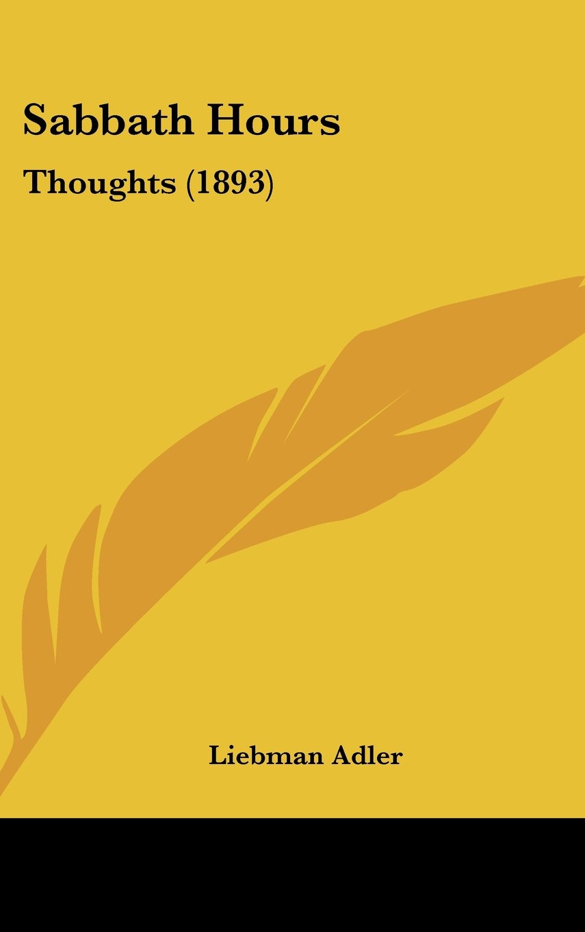 Sabbath Hours: Thoughts (1893) pdf epub