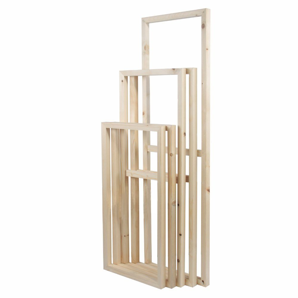 5 Pieces Wooden Inner Frames Set Match for Canvas Wall Art Paintings, 80x150cm Overall (32x60 inch Overall), 30x40cm + 30x60cm + 30x80cm + 30x60cm + 30x40cm (1'' Premium Thick, Bracket Mounted) by SZ HD Painting