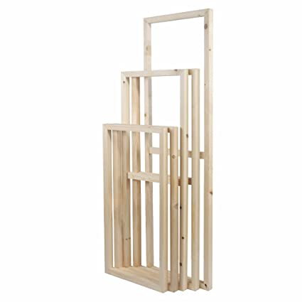 Amazon.com: 5 Pieces Wooden Inner Frames Set Match for Canvas Wall ...