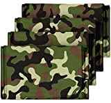 Camouflage Emergency Mylar Blankets (4-Pack) - Perfect for Outdoor Camping, Hiking, Survivalist, Shelters, Preppers, Hunting, First Aid Kit