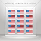 Sticker Decal United States Flag Set X 15 Tablet Laptop Weatherproof S (20 X 19.4 Inches)