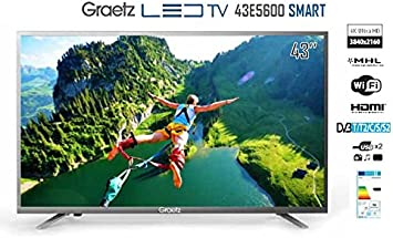 Skyworth - 43E5600 Smart TV LED ultra HD, 4 K, 43 pulgadas: Amazon.es: Electrónica
