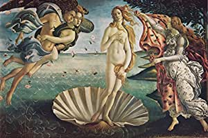 Sandro Botticelli - El Nacimiento De Venus, 1483-1485 Fotomural Autoadhesivo (180 x 120cm)