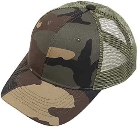 d0f5ac77 CapsA Camouflage Baseball Dad Cap Adjustable Size Perfect for Running  Workouts Outdoor Activities Ponytail Messy Buns