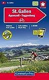 Sankt Gallen - Appenzell - Toggenburg 1 : 60 000. Velokarte Blatt 7. Mit Index. GPS (Kümmerly+Frey Velokarten)