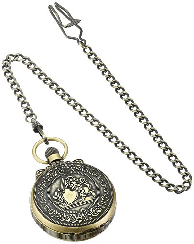 Charles-Hubert-Paris-3866-G-Classic-Gold-Plated-Antiqued-Finish-Mechanical-Pocket-Watch